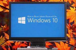 How to Reset Password on Windows 10 1