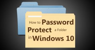 How to Password Protect a folder in windows 10   Protect a folder in windows 10   Windows 10