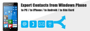 export contacts from windows phone
