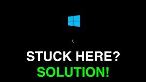 computer black screen on startup windows 10