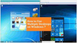 Use Multiple Desktops on Windows 7 | Windows 7 Multiple Desktops | Windows 7 Monitors