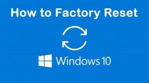 how to factory reset windows 10 | Windows 10 | Factory Reset