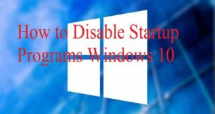 How to Disable Startup Programs Windows 10 1