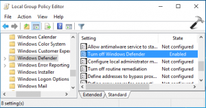 Enable windows defender windows 7 group policy