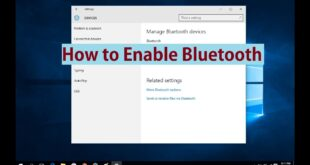 How to enable bluetooth in Windows