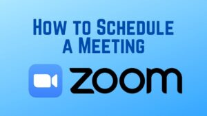 How to set up zoom meeting